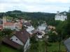 Pohled na Rožmberk nad Vltavou