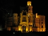 Zámek Hluboká nad Vltavou v noci