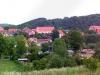 Pohled na Zlatou Korunu - napravo klášter